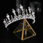 7.5cm High Crystal Pearl Tiara Crown Wedding Bridal Party Pageant Prom 2 Colors