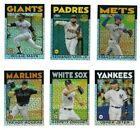 1986 Topps CHROME SILVER PACK Mojo Complete Your Set 2021 Series 2 You U Pick