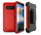 For Galaxy S8 Plus Case Anti-Drop Luxury Cover Durable Protection Holster RED