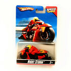 Hot Wheels Road Roller Speed Cycles Motorcycle Bagger with Figure