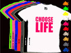 Neon CHOOSE LIFE Childs 80s Fancy Dress T Shirt 1-14yrs