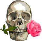 Skull with Pink Rose Nail Decal set of 20