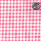 POLYESTER COTTON BLEND CLOTHES DRESS FABRIC 4MM SIMPLE GINGHAM CHECK BLACK 44'W