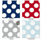 "SHEER COTTON 100% CLOTH DRESS BLOUSE FABRIC CUTE BIG 22MM POLKA WHITE DOT 58""W"
