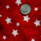 "SOFT MINKY MINKEE CHENILLE FABRIC STARS ALLOVER NAVY PINK RED FOR BLANKETS 60""W"