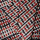 WOOL ACRYLIC BLENDED FABRIC FOR JACKET COAT 13MM HOUNDSTOOTH BLACK WHITE 44'WIDE