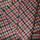 WOOL ACRYLIC BLENDED FABRIC WINTER JACKET COAT 13MM HOUNDSTOOTH BLACK WHITE 44'W