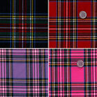 ACRYLIC DERSS CLOTH FABRIC SCOT TARTAN CHECK PLAID PINK