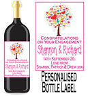 PERSONALISED WINE BOTTLE LABEL ENGAGEMENT GIFT FAVOUR