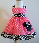 Handmade Halter Minnie Mouse Jumper Dress Size from 12M to 5T