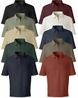 OOBE Mens NEW Zip Flog Golf Polo Moist Wick Sport Shirts Size S M L XL 2XL 3XL