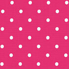 COTTON CURTAIN CRAFT TABLE LINEN FABRIC POLKA DOT PINK