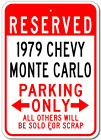 1979 79 CHEVY MONTE CARLO Parking Sign