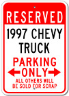 1997 97 CHEVY TRUCK Parking Sign
