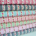 GARLAND & GINGHAM VINTAGE STRIPE ROSES COTTON FABRIC M