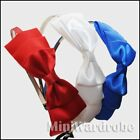 Hair Band Bow Headband Silky Tie Gossip Ribbon Satin
