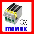 3x BLACK T1281 COMPATIBLE INKS OF EPSON STYLUS PRINTERS
