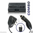COMBO for MOTOROLA PHONES POUCH + HOME + CAR CHARGER TRAVEL WALL AUTO CASE COVER
