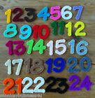 Felt Die Cuts - Numbers 1-24 - Applique - Advents Calendar - Birthday - Cards