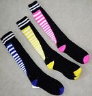 Girls Funky ZIPPER Soccer Softball All Sports SOCKS 4 Cleats Shoes 3-5-6-7-8