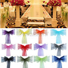 50PCS Organza Sheer Chair Sashes Wedding Party Cover Banquet Bows Colours Deco