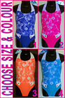 GIRLS TOGS - Sz 4 6 or 8 - SWIMWEAR Bathers GORGEOUS FLORAL BLING DESIGN - New