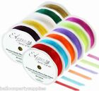 10mm x 20M Eleganza Woven Edge Ribbon 28 Colours Available ***FREE UK POSTAGE***