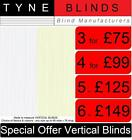 3 VERTICAL BLINDS Headrail & slats ***only £75*** white or cream made to measure