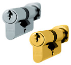 Euro Cylinder Thumbturn Lock Eurospec 30/30 Profile Door Replacement Barrell