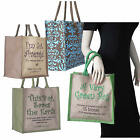 Jute Eco Friendly Shopping Bag Various Slogans Natural Fibre Environmental Green