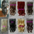 5 Clips On Hair Piece Extension 50cm Long 20 in. Wavy Synthetic Free Shipping 23