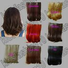 Free Shipping 5 Clips On Hair Piece Extension 35cm Long 14 in. Nature Synthetic