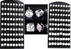 WHOLESALE 36 PAIRS Pierced ROUND/SQUARE Clear CZ STUD EARRINGS Choose your sizes