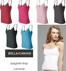 Bella NEW Ladies Size S-XL Cotton Spandex Spaghetti Strap Cami Shirt Womens 600