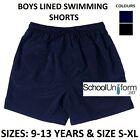 Zeco Boys Black Navy Swimming Shorts. School Uniform Wear. Ages 9-18+  yrs