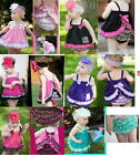 New Girl Baby Ruffle Top+Pants+Headband Set S0-3Y Bloomers Nappy Cover Clothes