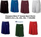 "Champion Mens NEW Size S-3XL Athletic Poly Mesh Gym Basketball Shorts 9"" Inseam"