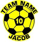 Personalized Custom Sports Soccer Shape Sign Decal Sticker Choose Two Colors