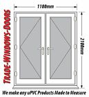 WHITE UPVC FRENCH DOOR SET - NEW, MADE TO MEASURE #029