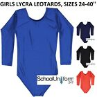Girls Ladies PE Gymnastics Dance Sports Stretch Lycra School Leotard 4-18+ yrs