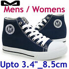 "HEIGHT INCREASING ELEVATOR SHOES_Upto 3.4""_8.5cm Mens & Womens_Rino Navy"