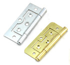 Flush Door Hinges Cupboard Wardrobe Cabinet Louvre Doors Brassed Silver Zinc