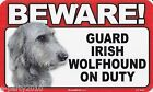 BEWARE of GUARD DOG Plastic Sign Poster ~ Party Supplies You pick your BREED!