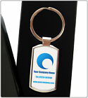 CUSTOM PRINTED  FULL COLOUR METAL KEYRING YOUR BUSINESS LOGO