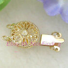 2 Strands Double Sides Filigree Gold Plated Clasp