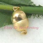 Yellow Gold Plated Round Magnet Clasp