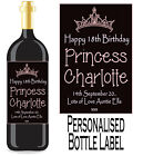 PERSONALISED BOTTLE LABEL BIRTHDAY GIFT FAVOURS WINE, SPIRIT OR CHAMP BDBL 7