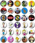 "Kids Retro TV Various 25mm, 1"" Button Badge, B to C, Windy Miller Snoopy Captain"