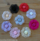 Organza Flowers - Wedding Invitations - Topper - Favour - Applique - sewing
