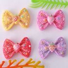 Free Ship 100pcs Lovely Resin Bowkont Flatback HF6668 14x19mm
